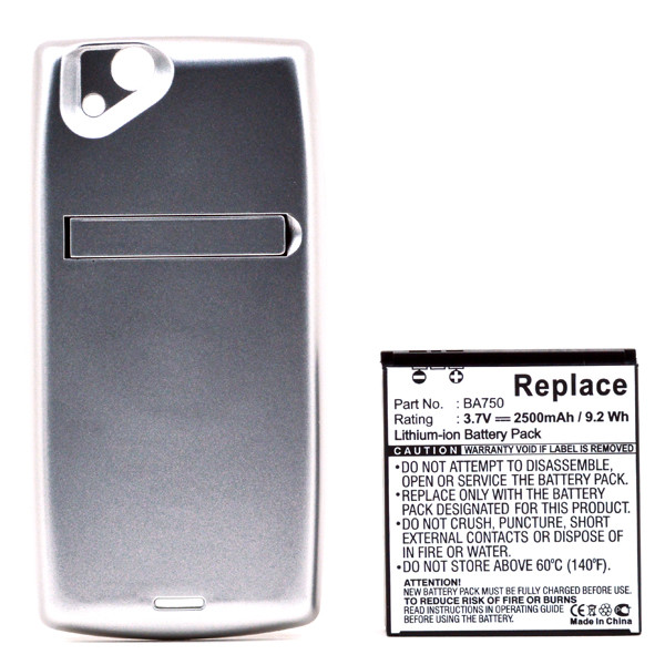 Mobile phone, PDA battery 3,7V 2500mAh for Sony Ericsson Xperia Arc