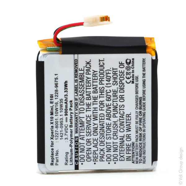 Mobile phone, PDA battery 3,7V 900mAh for Sony Ericsson Xperia X10 Mini