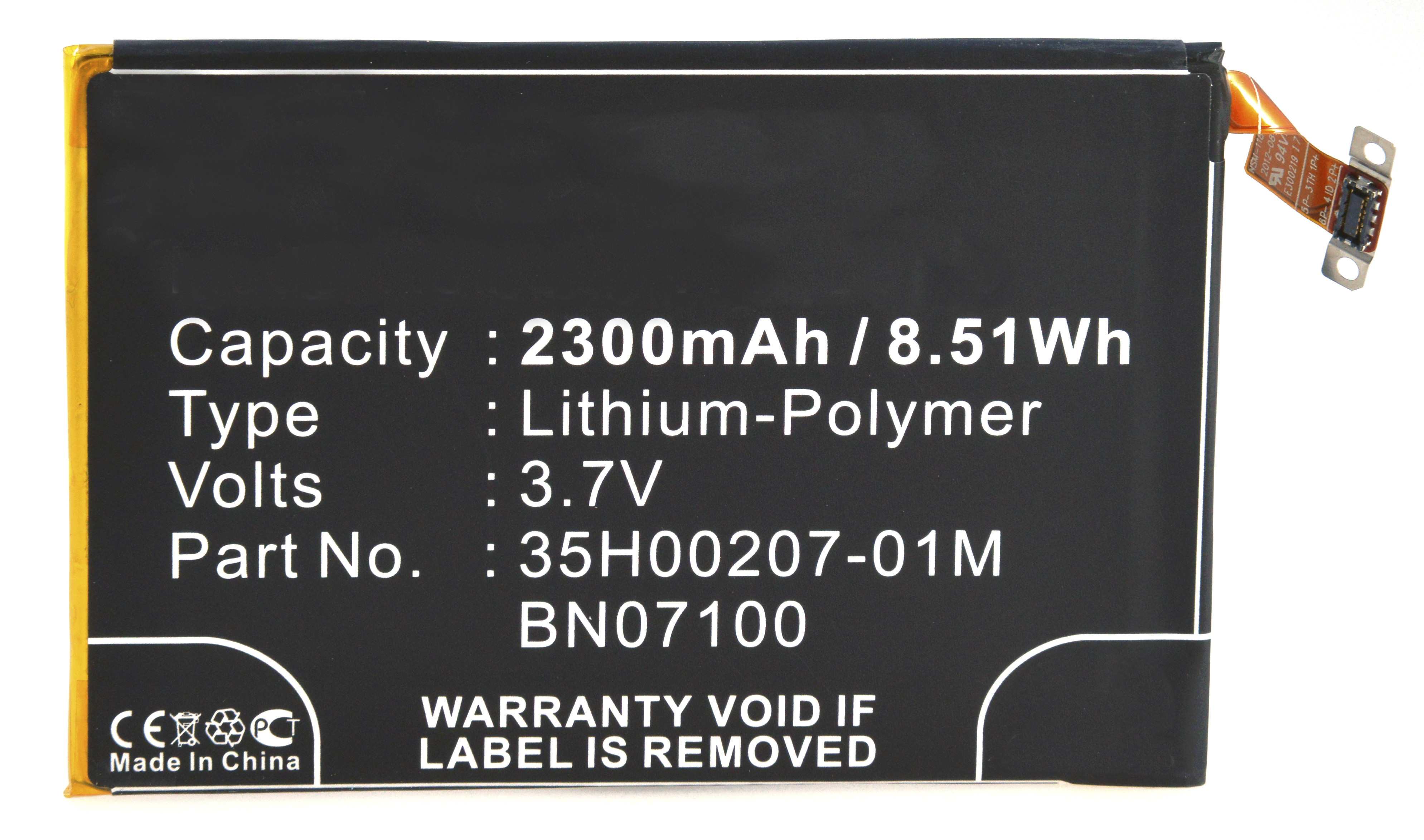 Mobile phone, PDA battery 3,7V 2300mAh for HTC One LTE