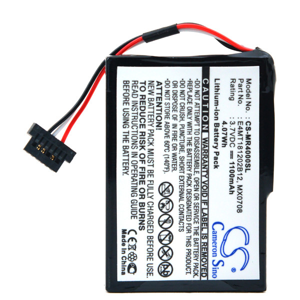 GPS battery 3,7V 1100mAh for Magellan Maestro 4050