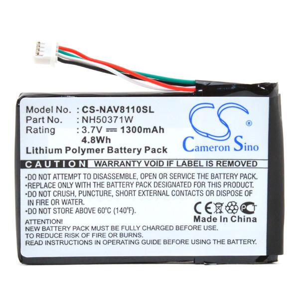 GPS battery 3,7V 1300mAh for Navigon 8110