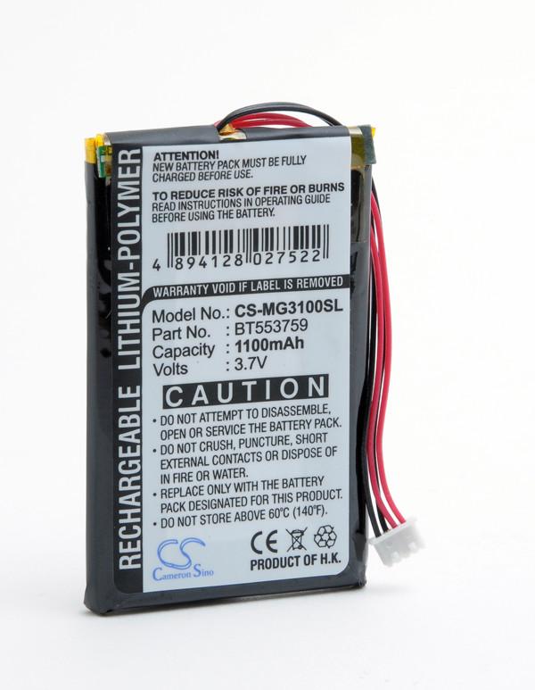 GPS battery 3,7V 1100mAh for Typhoon Myguide 3100