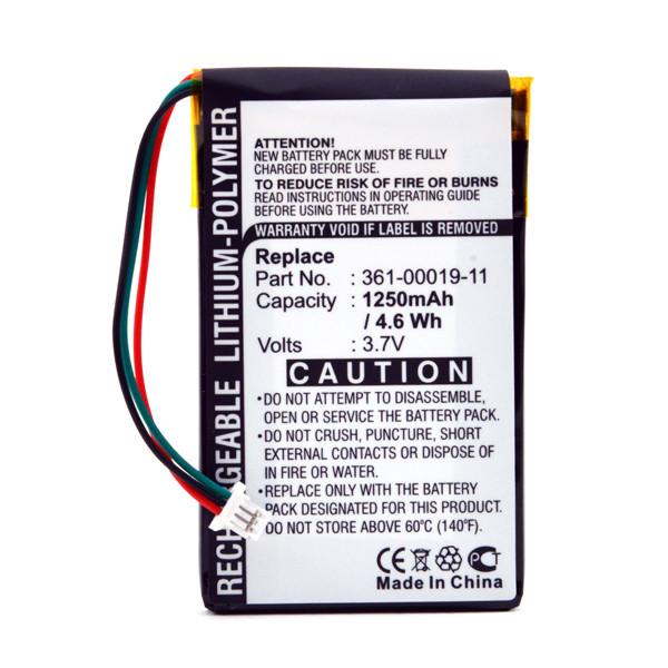 GPS battery 3,7V 1250mAh for Garmin Nüvi 765T