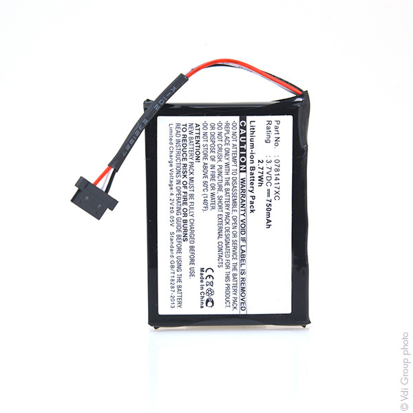 GPS battery 3,7V 750mAh for Mio Moov 370