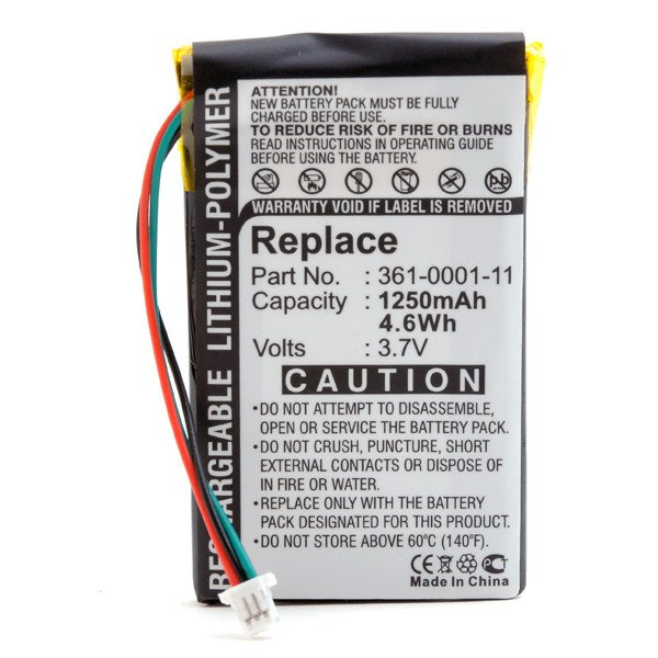 GPS battery 3,7V 1250mAh for Garmin Nüvi 250