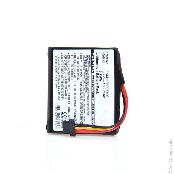 GPS battery 3,7V 1000mAh for TomTom Go 2535M Live