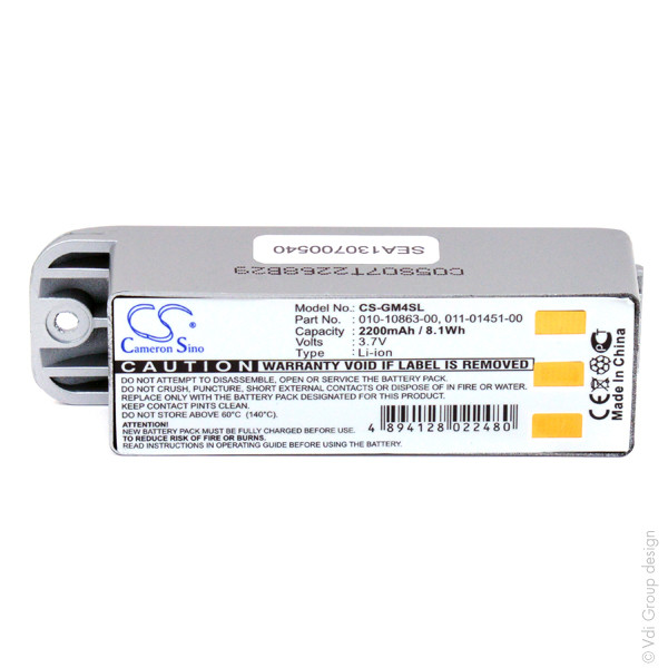 GPS battery 3,7V 2200mAh for Garmin Zumo 500 Deluxe