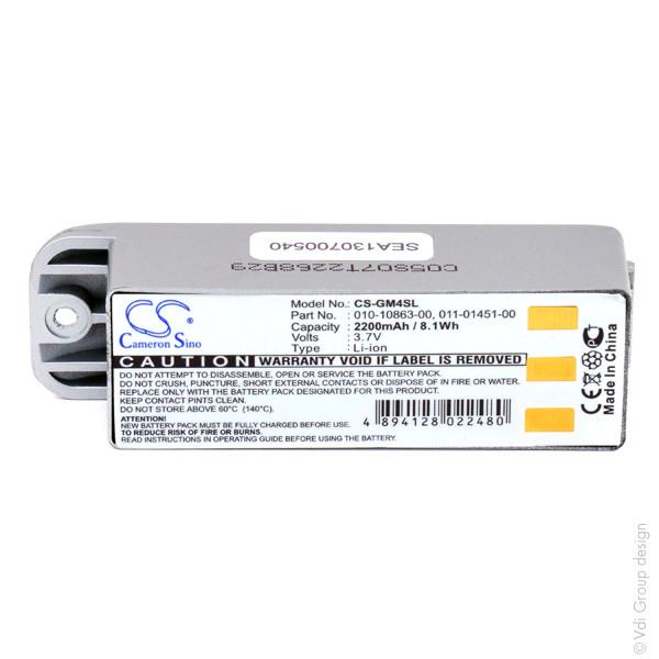 GPS battery 3,7V 2200mAh for Garmin Zumo 400