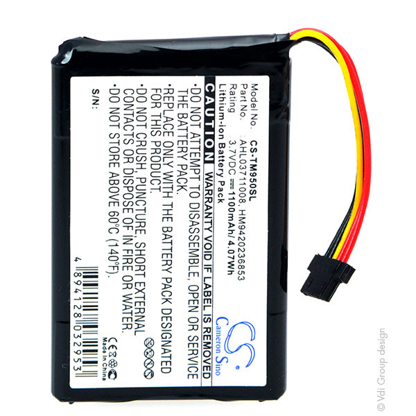 GPS battery 3,7V 1100mAh for TomTom Go 950 Live