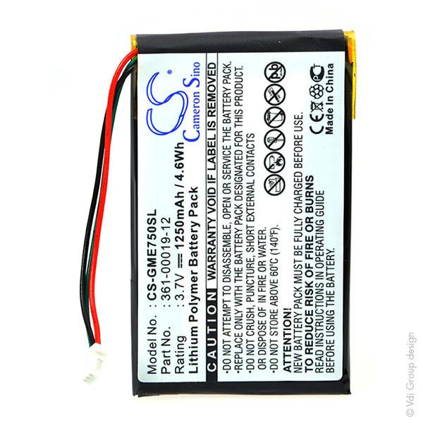 GPS battery 3,7V 1250mAh for Garmin Edge 705
