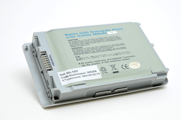 Laptop battery 10,8V 4400mAh for Apple PowerBook G4 M8760B/A*
