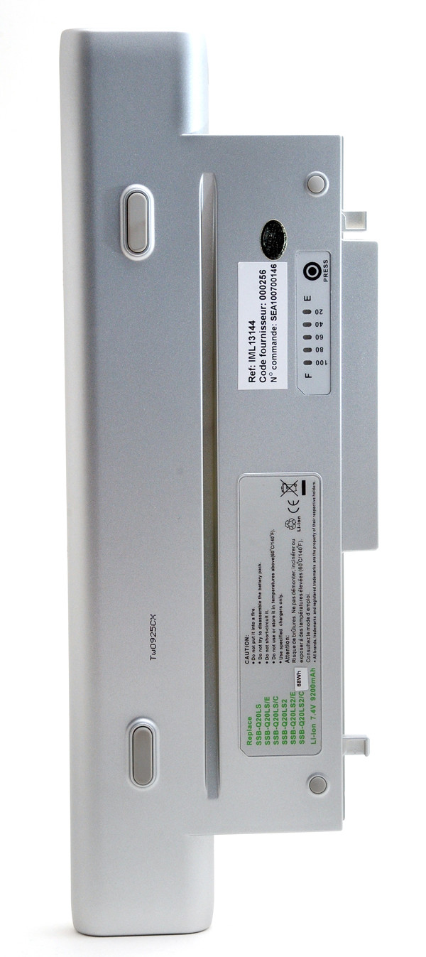 Laptop battery 7,4V 9200mAh for Samsung Q25 TXC 1300
