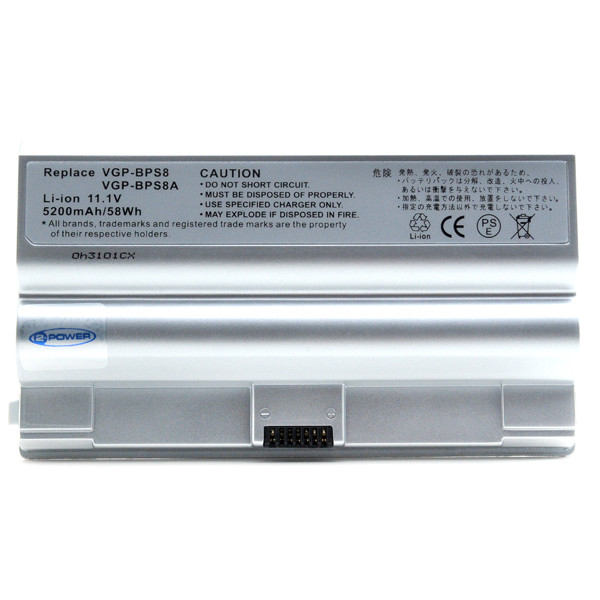Laptop battery 11,1V 5200mAh for Sony Vaio FZ18E