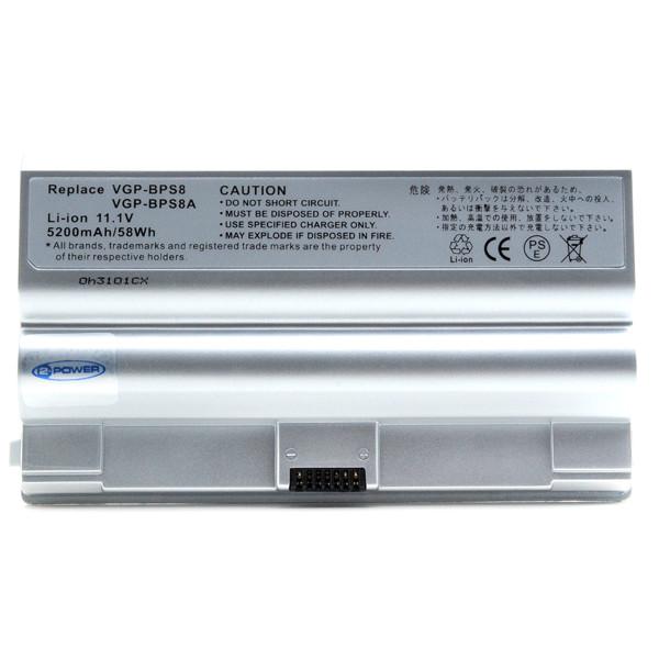 Laptop battery 11,1V 5200mAh for Sony Vaio FZ19VN