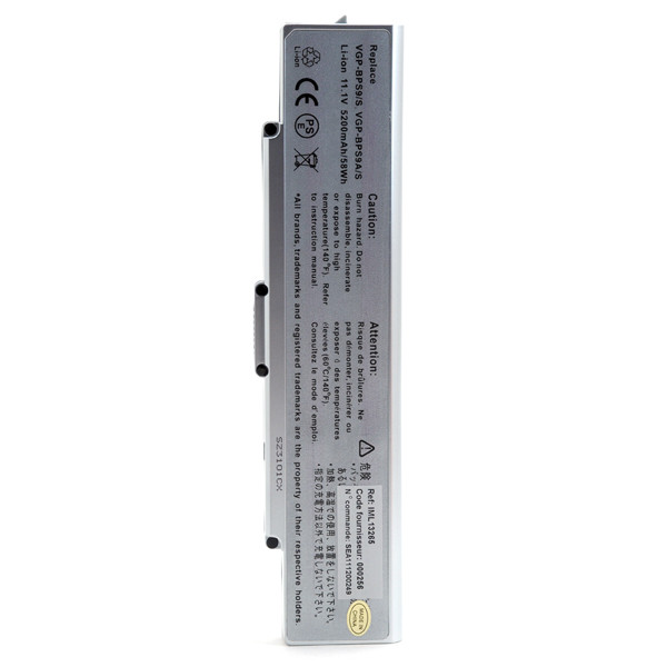 Laptop battery 11,1V 5200mAh for Sony Vaio CR21S/W