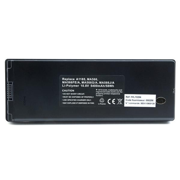 Laptop battery 10,8V 5400mAh for Apple MacBook MB404B/A