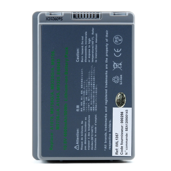 Laptop battery 10,8V 4600mAh for Apple PowerBook G4 M8981LL/A
