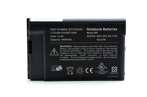 Laptop battery 14,8V 4600mAh for Acer TravelMate 8003LMI