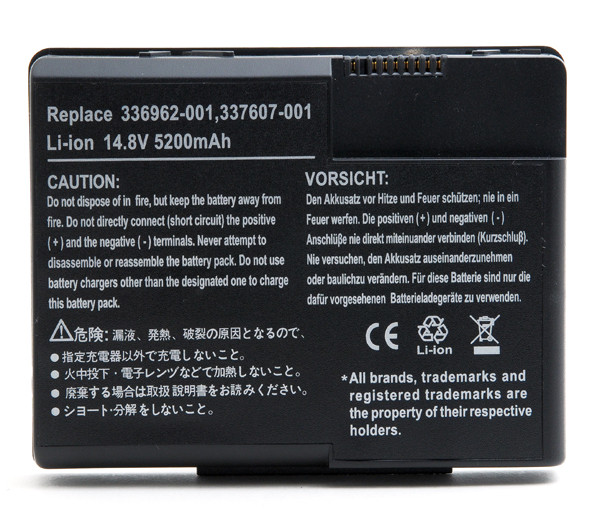 Laptop battery 14,8V 4400mAh for HP Compaq Presario X1000 Series