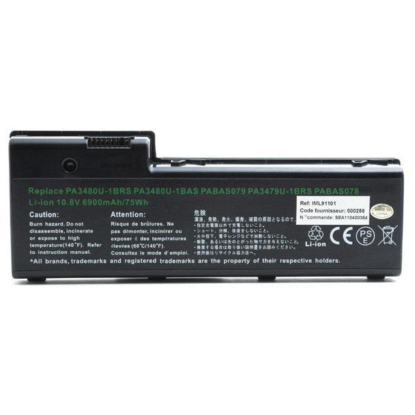 Laptop battery 10,8V 6900mAh for Toshiba Satellite P100-160