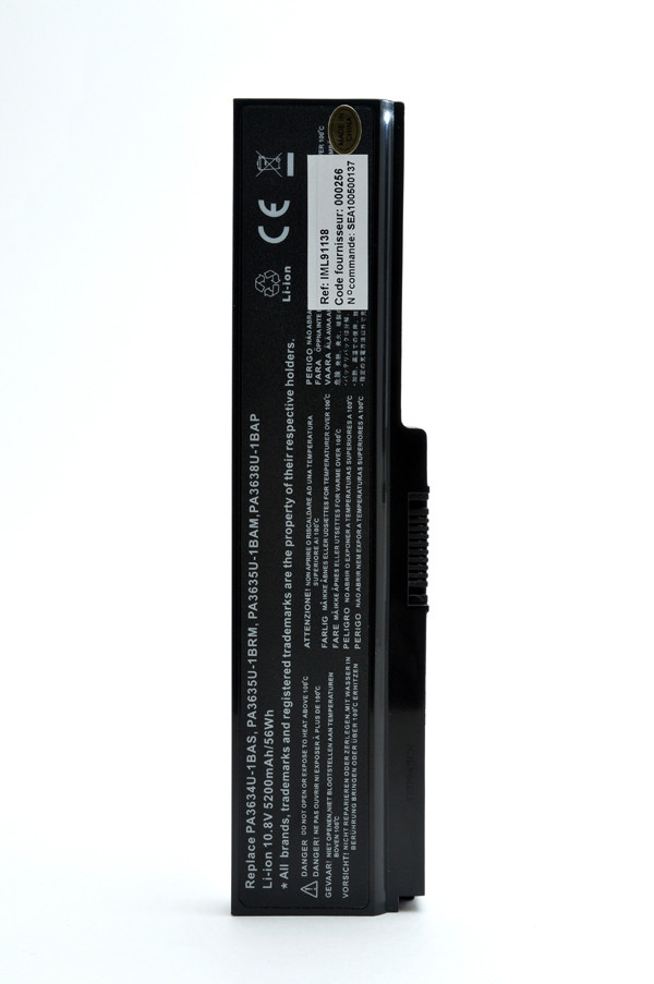 Laptop battery 10,8V 5200mAh for Toshiba Satellite C660-155