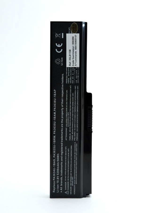 Laptop battery 10,8V 5200mAh for Toshiba Satellite C660D-155