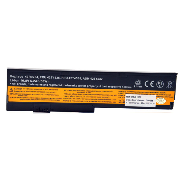 Tablet battery 10,8V 5200mAh for IBM Lenovo ThinkPad X200S SerieS