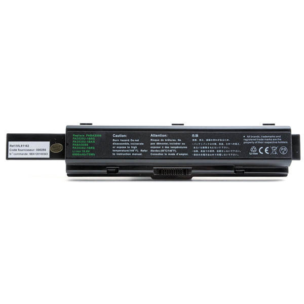 Laptop battery 10,8V 6900mAh for Toshiba Satellite A210-16Y