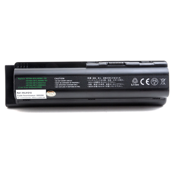 Laptop battery 10,8V 9200mAh for HP Compaq Presario CQ50 Series