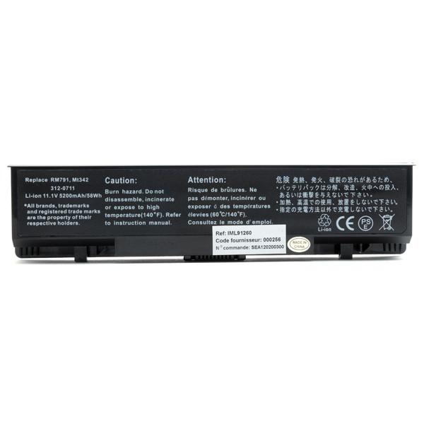 Laptop battery 11,1V 5200mAh for Dell Studio 1737
