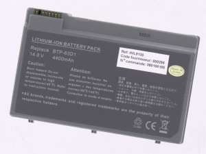 Laptop battery 14,8V 4400mAh for Acer TravelMate 2412LC