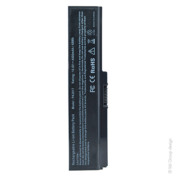 Laptop battery 10,8V 4400mAh for Toshiba Satellite L730