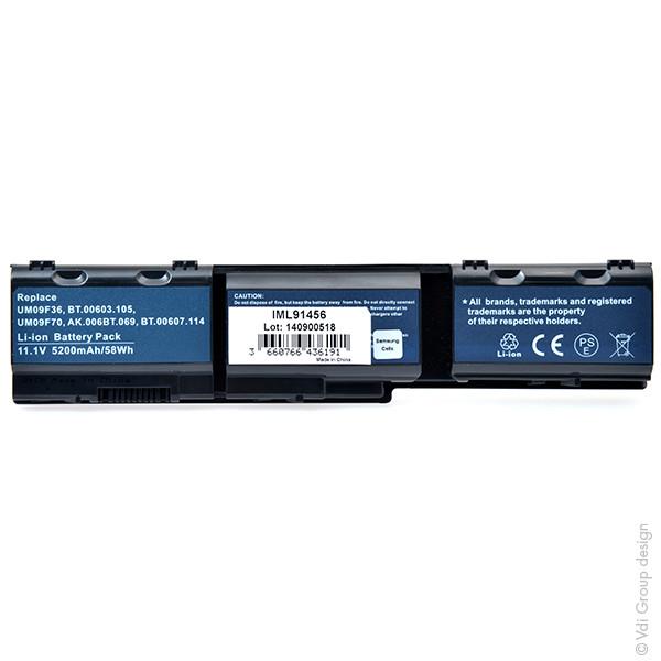 Laptop battery 11,1V 5200mAh for Acer Aspire Timeline 1825PTZ-413g25n