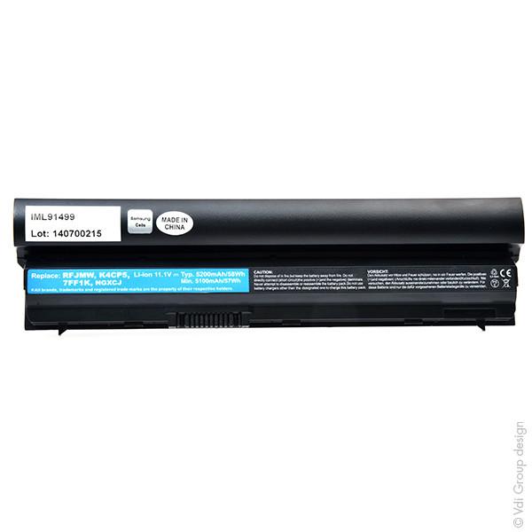 Laptop battery 11,1V 5200mAh for Dell Latitude E6430S