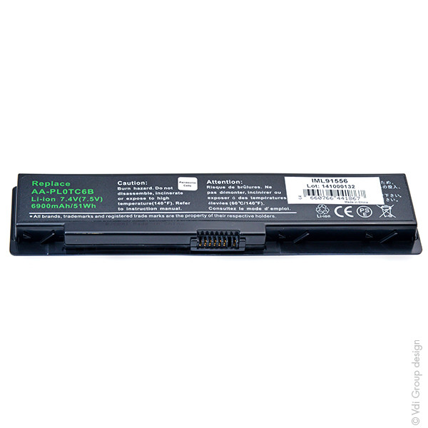 Laptop battery 7,4V 6900mAh for Samsung NT X170-AA11B