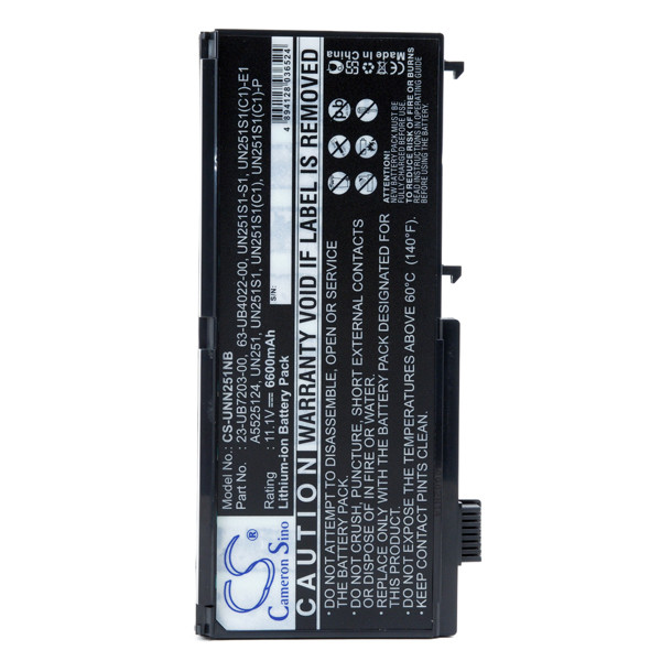 Laptop battery 11,1V 6600mAh for Targa Visionary XP 2200+
