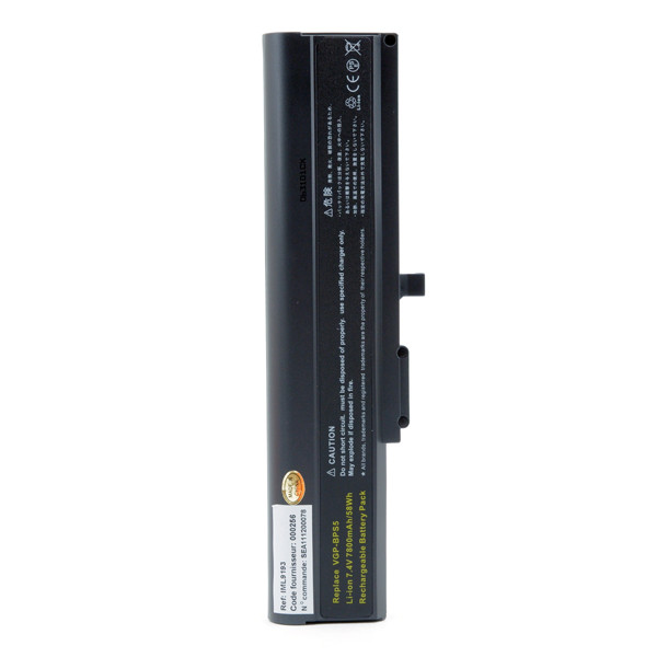 Laptop battery 7,4V 7800mAh for Sony Vaio TX3XP/L