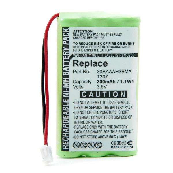 Cordless phone battery 3,6V 300mAh for Binatone On Air 2000