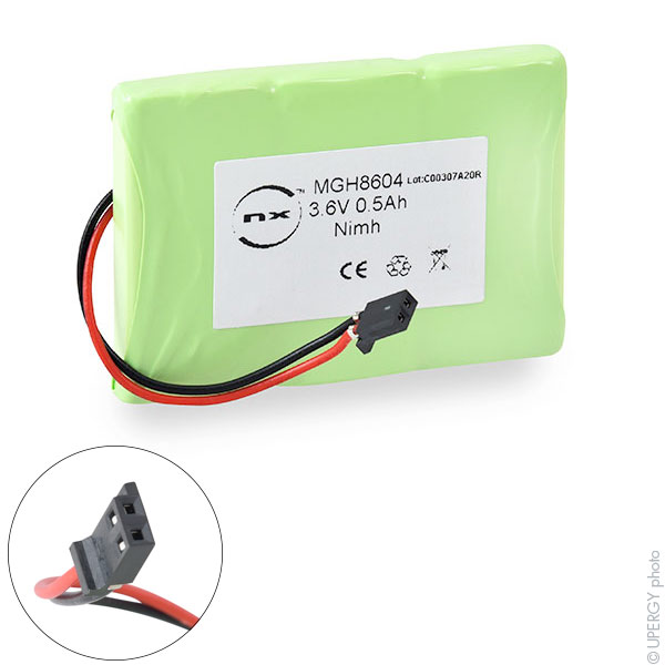 Cordless phone battery 3,6V 500mAh for BTI On Air 2000 Exec