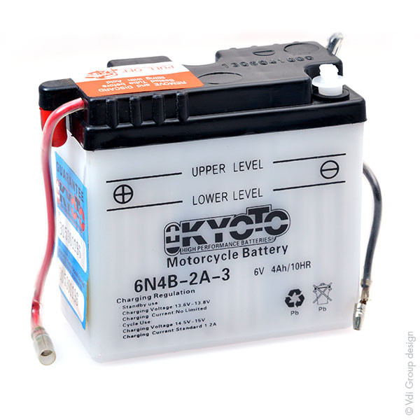Motorbike, Scooter battery 6V 4Ah for Yamaha 80 RD 80 MX 12M 5G1 1982 - 1984