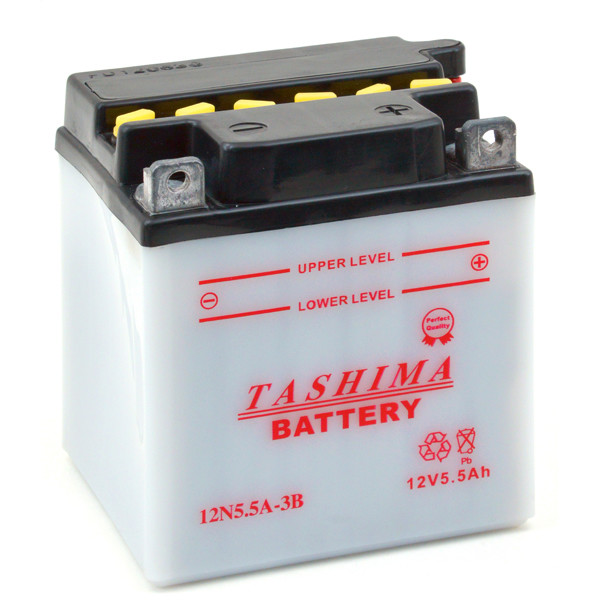Motorbike, Scooter battery 12V 5,5Ah for Yamaha 350 R5,R5B,R5C 1970 - 1972