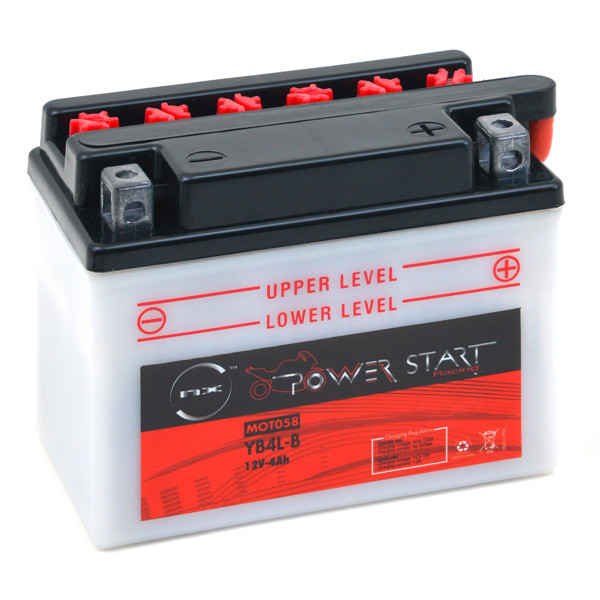Motorbike, Scooter battery 12V 4Ah for Piaggio 50 VESPA LX 50 2T 2005 - 2008