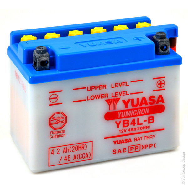 Motorbike, Scooter battery 12V 4Ah for Gilera 125 SC 125 ROUTE 2006 - 2007