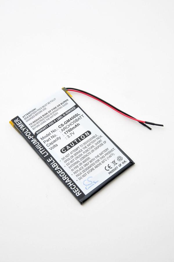 MP3, MP4, multimedia battery 3,7V 1400mAh for Archos Gmini 400