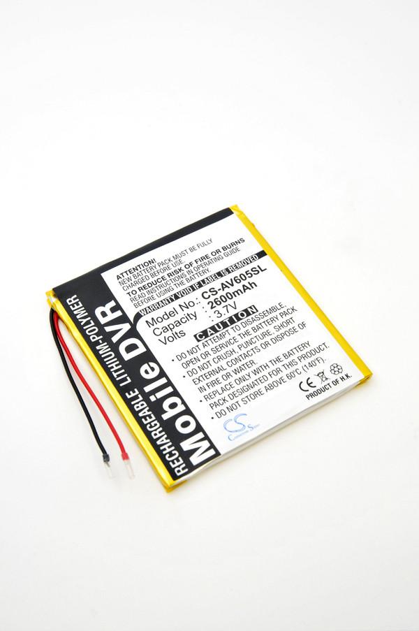MP3, MP4, multimedia battery 3,7V 2600mAh for Archos AV605 Wifi 60GB