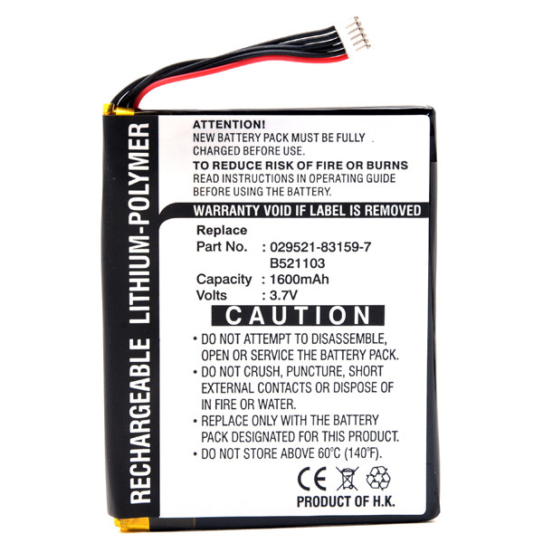 Mobile phone, PDA battery 3,7V 1600mAh for Asus MyPal A620