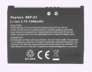 Mobile phone, PDA battery 3,7V 1250mAh for Asus MyPal A636