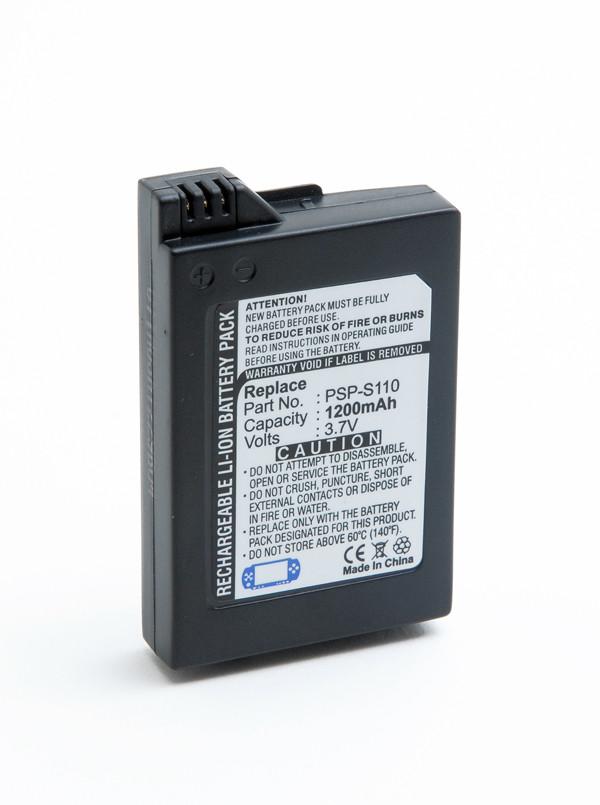 Video game console battery 3,7V 1200mAh for Sony PSP Slim Lite