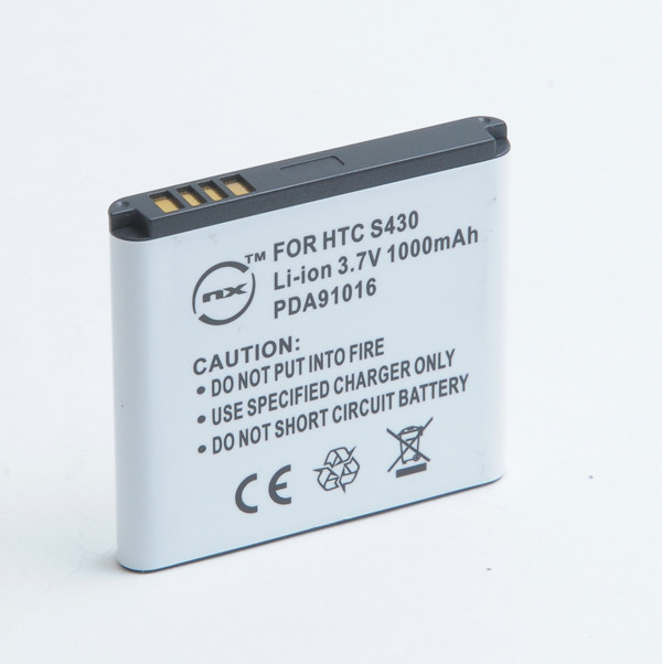 Mobile phone, PDA battery 3,7V 1100mAh for HTC Gratia