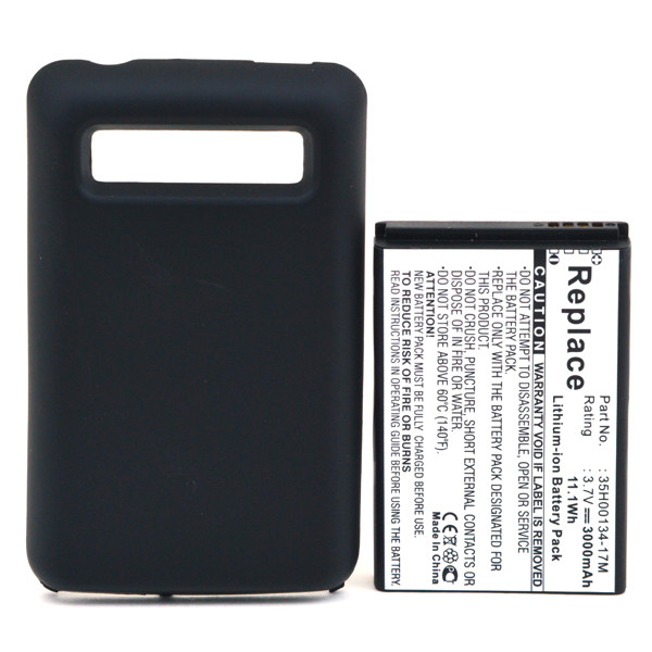 Mobile phone, PDA battery 3,7V 3000mAh for HTC 7 Trophy